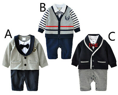 1pc baby newborn infant baby boy clothes cotton party daily bodysuit gentleman