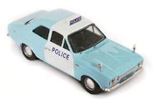 TROFEU-523-Ford-Escort-MK1-1300-GT-Panda-Police-Car-blue-white-roof-sign-1-43rd