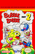Framed NES Nintendo Gaming Print – Bubble Bobble Part 2 (Picture Poster SNES)