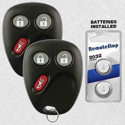 2 Car Fob Shell Case Pad 4B For 2007 2008 2009 2010 GMC Sierra 1500 2500 3500
