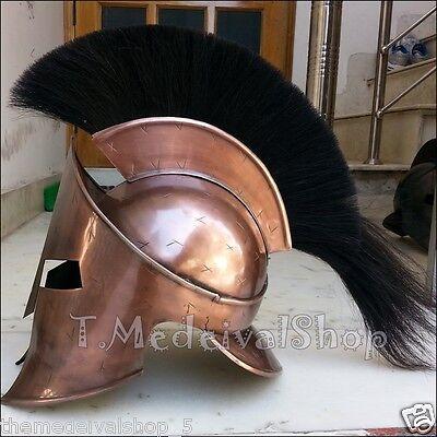 300 king leonidas spartan helmet with black plum and liner