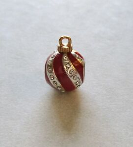 Brighton-Spacer-Charm-Ornament-shape-red-clear-crystals-Christmas-holiday