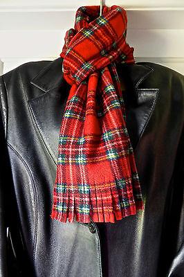red tartan scarf plaid hair scarf Royal Stewart tartan scarf tartan neckerchief