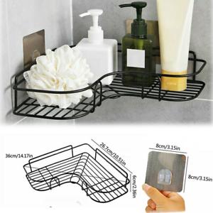 Bathroom Storage Basket Holder Shelf Corner Shower Caddy Shampoo SuctiUKon Cup