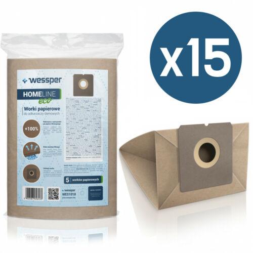 15x Staubsaugerbeutel für Clatronic BS 1284