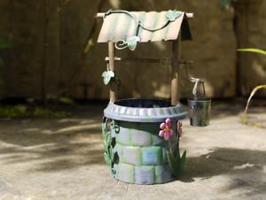 5304 Handmade Rustic Metal Colourful Fairy Wishing Well Patio//Garden Ornament