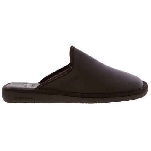 Nordikas Norwood 131 Mens braun Leather Slippers Indoor Outdoor Soles Größe 7-12