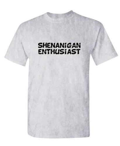 Unisex Cotton T-Shirt Tee Shirt SHENANIGAN ENTHUSIAST