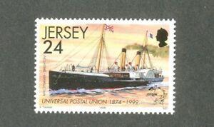 """Impartial Navires-mail Steamers """"le Brighton"""" Jersey - 1999-neuf Sans Charnière-histoire Postale-al History Fr-fr Afficher Le Titre D'origine Surface LustréE"""