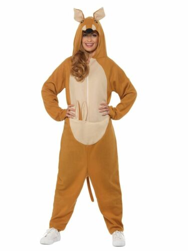Mens Kangaroo All In One Jumpsuit Fancy Dress Costume Animal Stag Aussie Outback