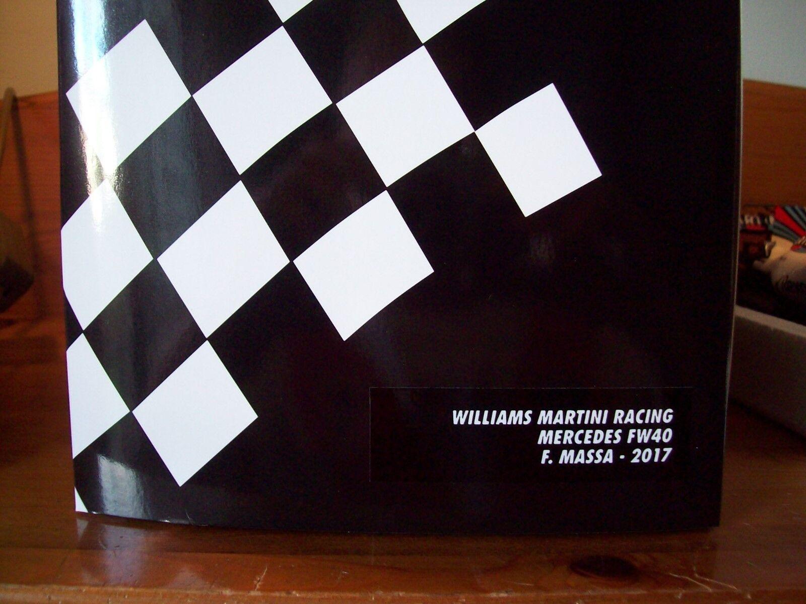 1 18 MINICHAMPS WILLIAMS MARTINI RACING MERCEDES FW40 FELIPE MASSA 2017