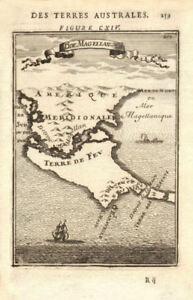 Details about TIERRA DEL FUEGO. Cape Horn. Magellan Strait. Chile  Argentina. MALLET 1683 map