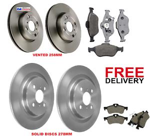 Rear Brake Pads+Brake Discs 270mm Solid  For Toyota Auris 2.2 D 1.3 1.4 D-4D