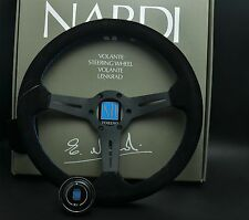 350mm ND Suede Leather Low Deep Dish Drifting Steering Wheel MOMO Race OMP Rally