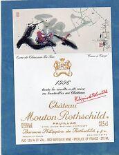 PAUILLAC 1EGCC ETIQUETT CHATEAU MOUTON ROTHSCHILD 1996 37.5 CL EXPORT§06/03/17§
