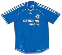 Chelsea FC Adidas blue home short sleeve adults football shirt 2006-08 XL O61230
