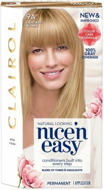E63 Clairol 9a 102 Natural Light Ash Blonde N Easy Hair Color For Sale Online Ebay