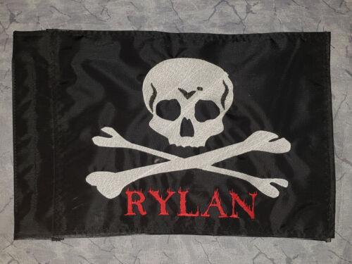 Personalized Skull /& Bones Safety Flag 4 ATV UTV Bike Jeep Dune Safety Flag