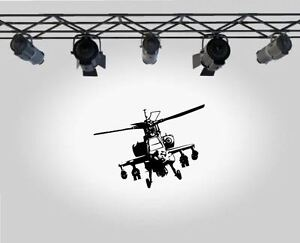 ARMY HELICOPTER  APACHE 2  Wall Art Sticker Decal  Wall Decals /& Stickers