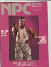 NPC NEWS bodybuilding muscle magazine/ 8x Mr Olympia LEE HANEY 9-89