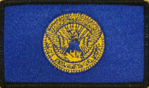 CITY OF ATLANTA GEORGIA Flag Iron-On Military Patch  Emblem BLACK Border #28