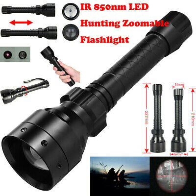 Long Range Infrared 150000 LM IR 850nm T50 LED Hunting Light Night Vision Torch