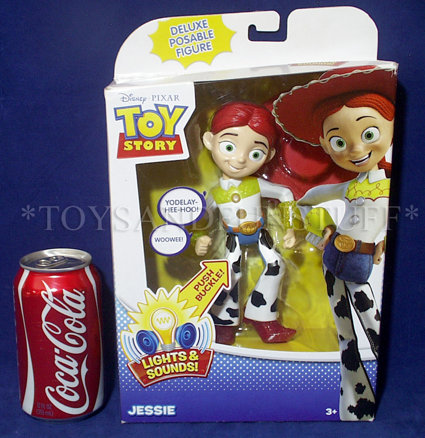 NEW Toy Story JESSIE 7 7 7  Deluxe Posable Figure - LIGHTS & SOUNDS - Talk & Glow e16f8a
