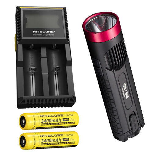 Combo: ROT Nitecore EC4GT Limited Limited EC4GT Edition w/ D2 Charger & 2x NL189 Batteries b9dbbc