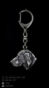 silver covered keyring Whippet high qauality keychain Art Dog