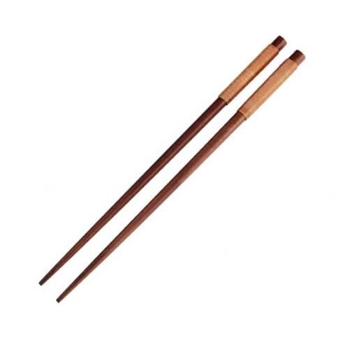 1 Pairs Handmade Japanese Natural Chestnut Wood Chopsticks Set Value Gift.
