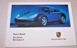 2001 porsche 911 carrera owners manual carrera 4 manual new original rh ebay com Porsche 911 Carrera GT 2000 porsche 996 owners manual