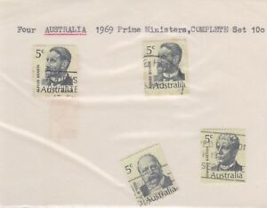 V5-30-1969-AU-old-stamp-pack-4stamps-Prime-Ministers-AD