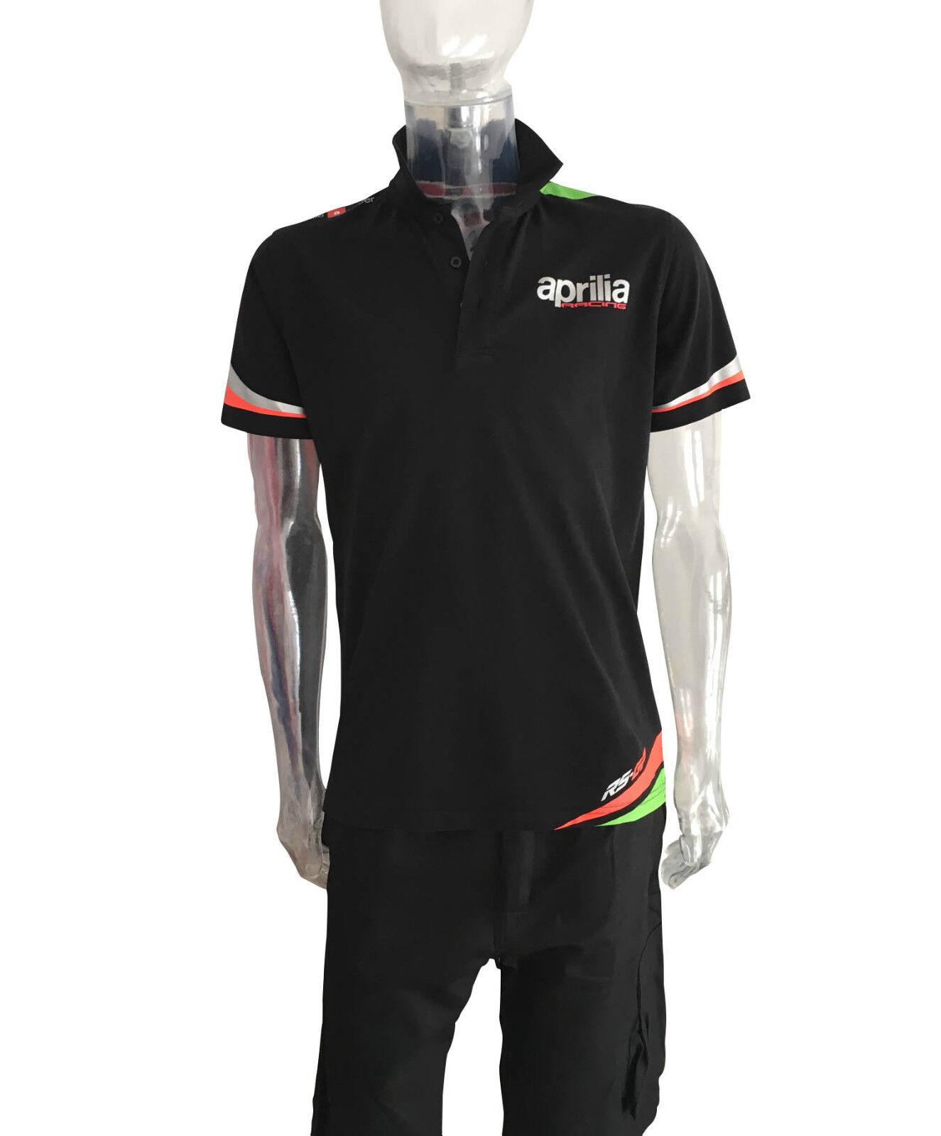 2016 2016 2016 OFFIZIELL Aprilia Team Spin über schwarz Polo aa00c4