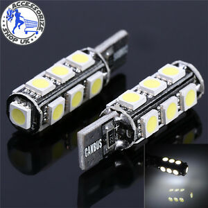 2-X-ERROR-FREE-SIDE-LIGHT-CANBUS-W5W-T10-501-LED-BULB-13-SMD-Xenon-White