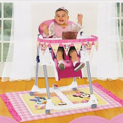 Disney Minnie Mouse 1st Birthday High Chair Decorating Kit (2 pieces) - 248195