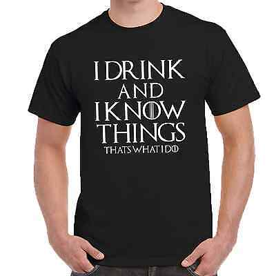 Game of Thrones Long T-Shirt I Drink and I Know Things Tyrion Lannister GoT Bar