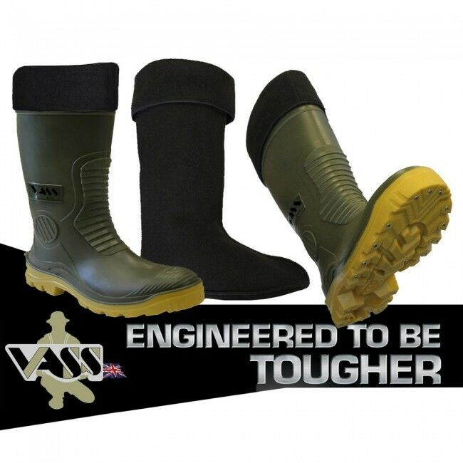VASS WINTER FISHING Stiefel WITH REMOVABLE LINER ( STUDDED)