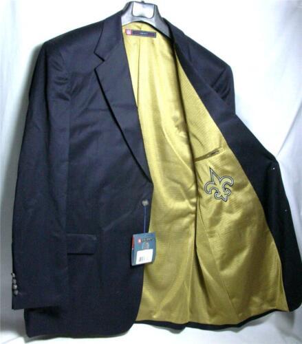 Regular New Orleans Saints Team Blazer Licensed Logo Sport Coat Short Tall