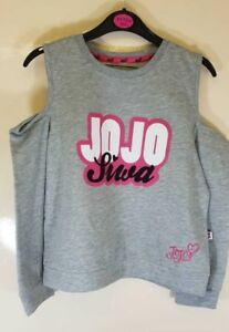 f9c4ea561ef51 Grey nickelodeon JoJo Siwa Shoulder Cut out Top Long Sleeve Girls ...
