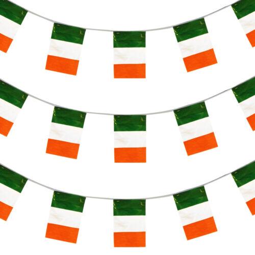HUGE 200FT IRISH BUNTING LARGE IRELAND NATIONAL FLAG DECORATION 60 M ST PADDYS