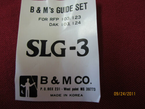 FISHING BASS//CRAPPIE POLE//ROD GUIDES P# SLG-3 B /& M GUIDE SET
