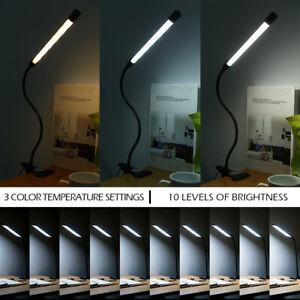 Lampe-table-ongles-LED-USB-Manucure-Bureau-Lit-Dimmable-Mains-Flexible-PS