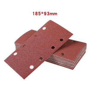 93 x 185mm Hook/Loop 1/3 Sanding Sheet Papers Sander Sand Paper Mixed Grit