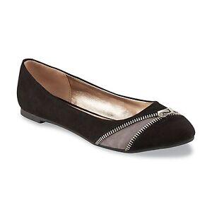f19968524947 NEW!!! Bongo Women s Molly Black Grey Zipper Ballet Flat 86833 E47 ...