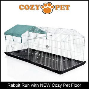 Cozy-Pet-Rabbit-Run-Play-Pen-Guinea-Pig-Playpen-Puppy-Cage-Hutch-RR06-Floor