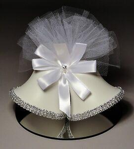 Rhinestone Satin Hearts Wedding Cake Topper (953)