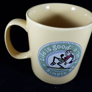 Collectible-Life-is-Good-Stoneware-Coffee-Mug-Golf-is-good-for-the-Soul