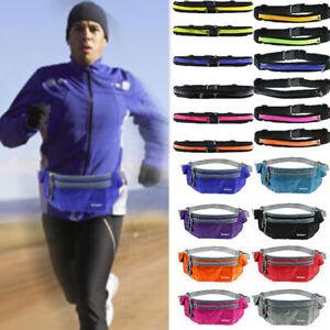 Unisex-Sports-Bum-Bags-Fanny-Pack-Hiking-Running-Waists-Flexible-Belt-Pouch-Lot
