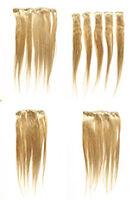 Light Golden Blonde Blonde Long Medium Human Hair Straight Accessories