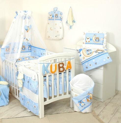 HOLDER//BUMPER//PILLOW QUILT CASE Baby Girl Boy 5pc NURSER BABY COT SET CANOPY